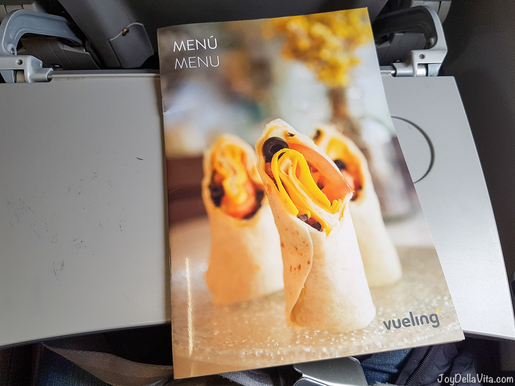 Vueling On Board Prices / Pricelist Food & Drinks